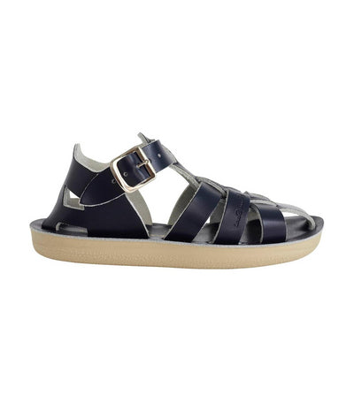 salt-water sandals kids navy shark