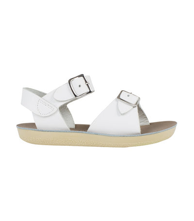 salt-water sandals kids white surfer