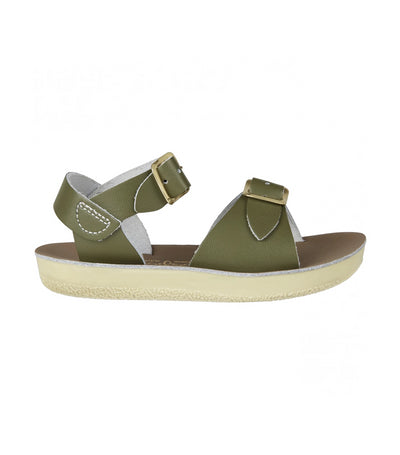 salt-water sandals green surfer