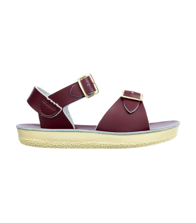 salt-water sandals kids claret surfer