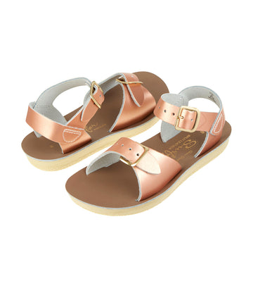 salt-water sandals kids rose gold surfer premium