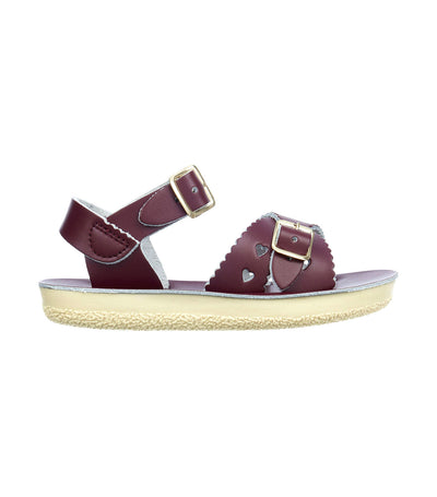 salt-water sandals kids claret sweetheart