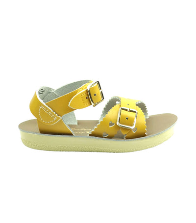 salt-water sandals kids mustard sweetheart