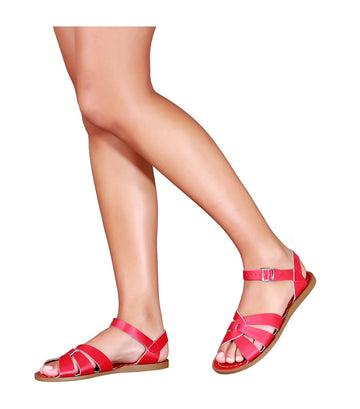 salt-water sandals woman original sandals red