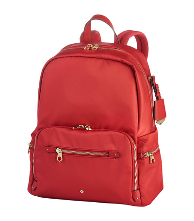 samsonite alina backpack 3 pocket scarlet red