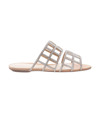 schutz crystal flat cage glam sandal
