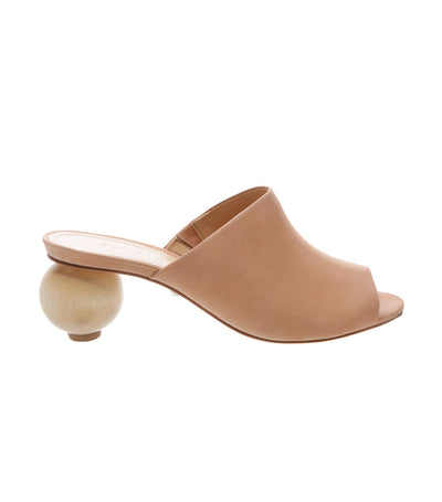 schutz honey brown mule statement wooden heel