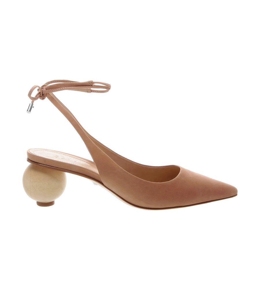 schutz honey scarpin pointed toe sling back laced heel