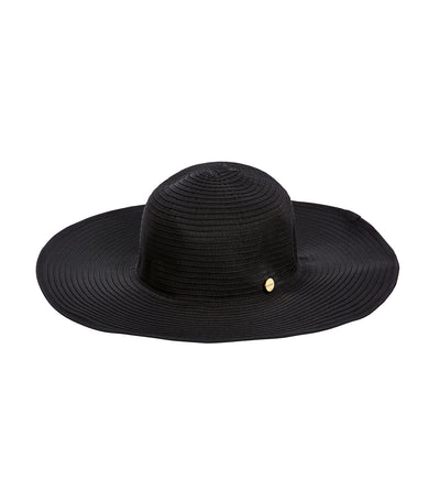 seafolly black shady lady lizzy hat