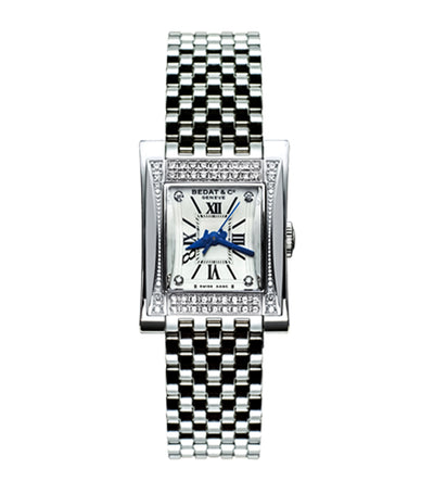 No.7 Rectangular-Shaped Ladies Diamond Steel Automatic