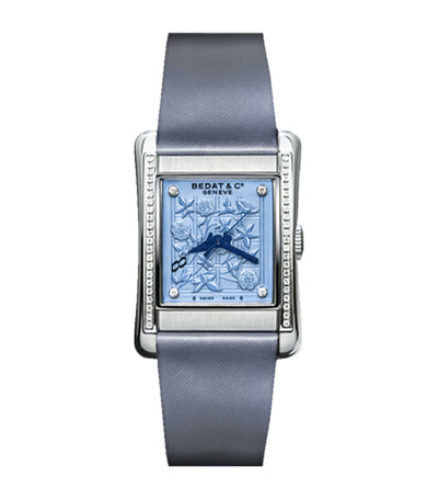 No.7 Rectangular-Shaped Ladies (48)Diamond Steel Satin Automatic