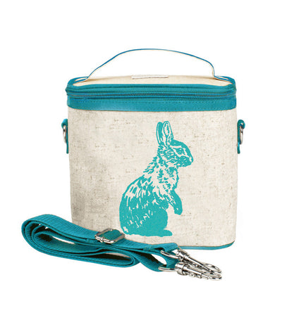 so young aqua bunny small insulated cooler bag