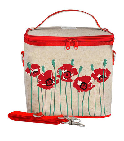 soyoung red poppy large cooler bag