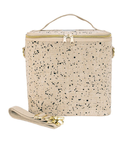 soyoung brown splatter insulated petite poche