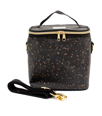 soyoung paper-black splatter insulated petite poche