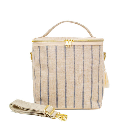 soyoung slate pinstripe insulated lunch poche