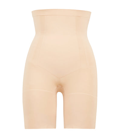 spanx oncore hi-waist mid-thigh short soft nude