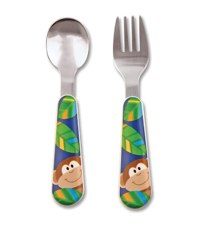stephen joseph silverware set - monkey