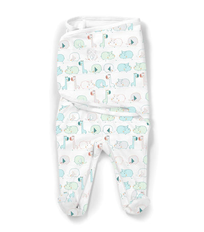 summer swaddleme® footsie™ – sleepy jungle