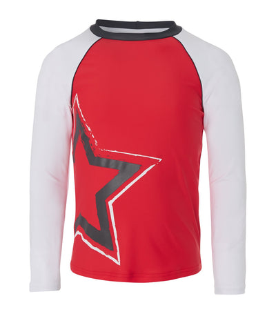 sunuva red star rash vest