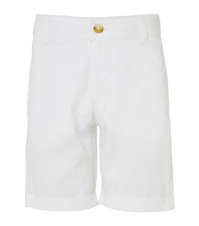 sunuva white cotton tailored shorts
