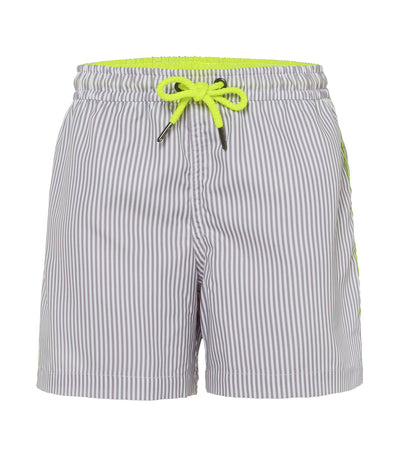 sunuva gray striped swim shorts