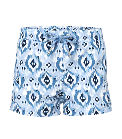 sunuva blue ikat shorts