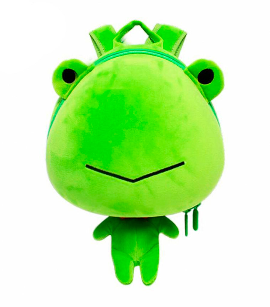 supercute green frog backpack