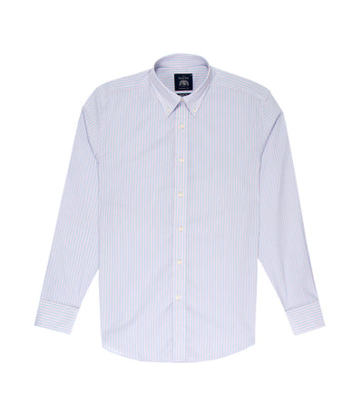 savile row classic long-sleeved stripes button-down shirt pink and blue