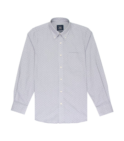 savile row casual long-sleeved button-down shirt gray