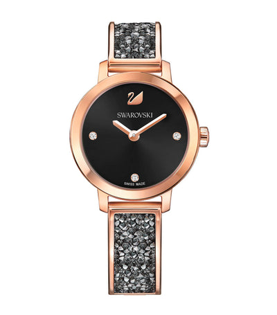 swarovski cosmic rock black watch