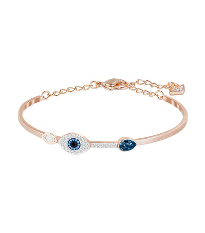 swarovski duo evil eye bangle