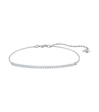 swarovski only rhodium plated white bracelet