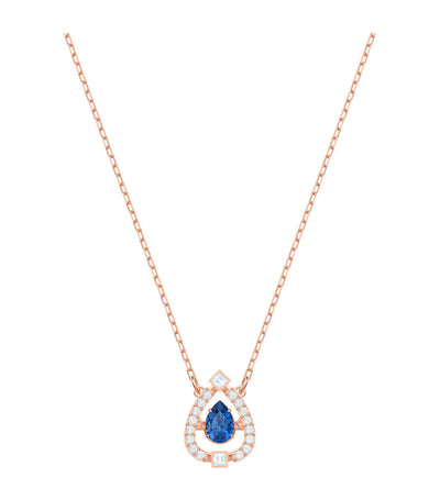 swarovski sparkling dance pear necklace blue