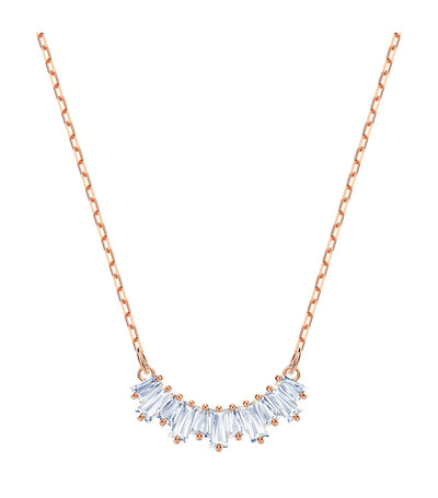 swarovski sunshine necklace rose-gold