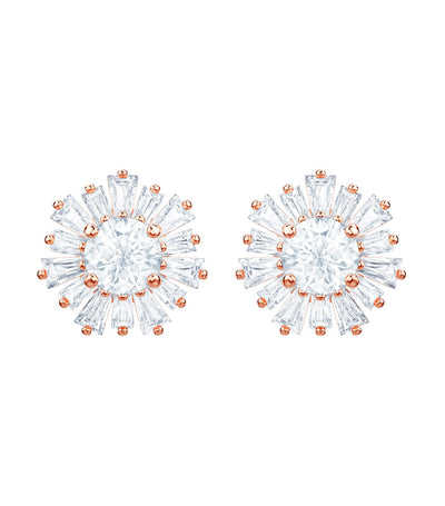 swarovski sunshine pierced earrings rose-gold