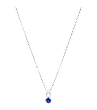 swarovski attract trilogy round blue pendant