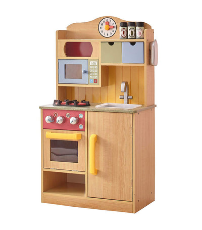 teamson wood grain little chef florence small play kitchen