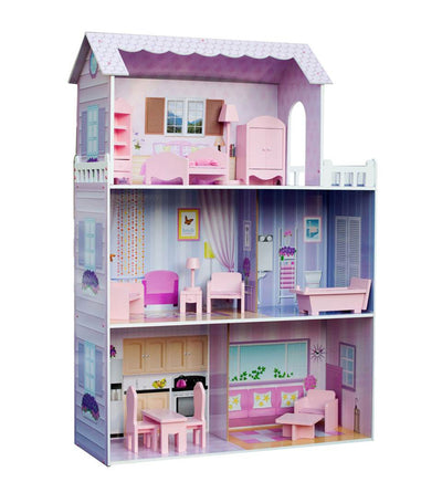 teamson fancy mansion wooden doll house
