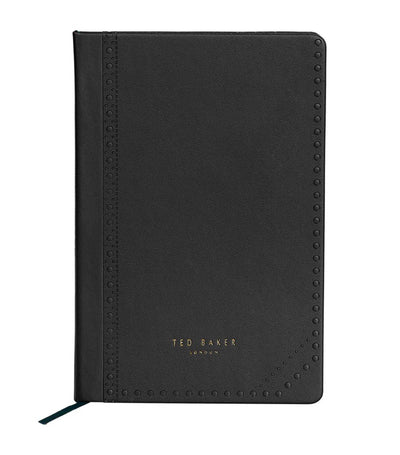 ted baker a5 notebook black brogue monkian