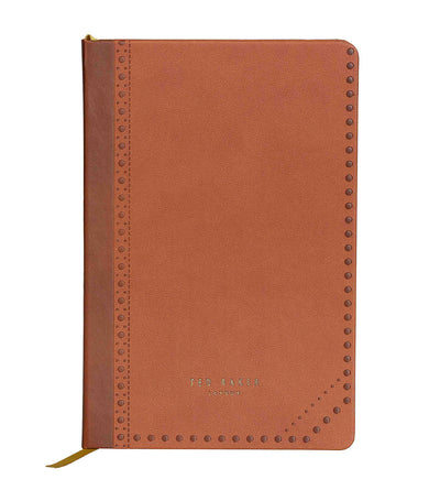 ted baker a5 notebook brown brogue kiku