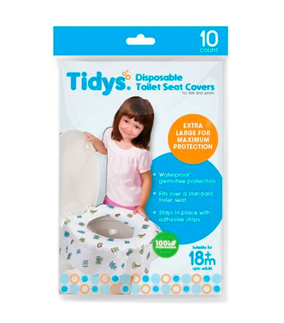 tidys disposable toilet seat cover (10 counts)