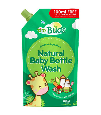tiny buds baby bottle and utensil wash 500 ml