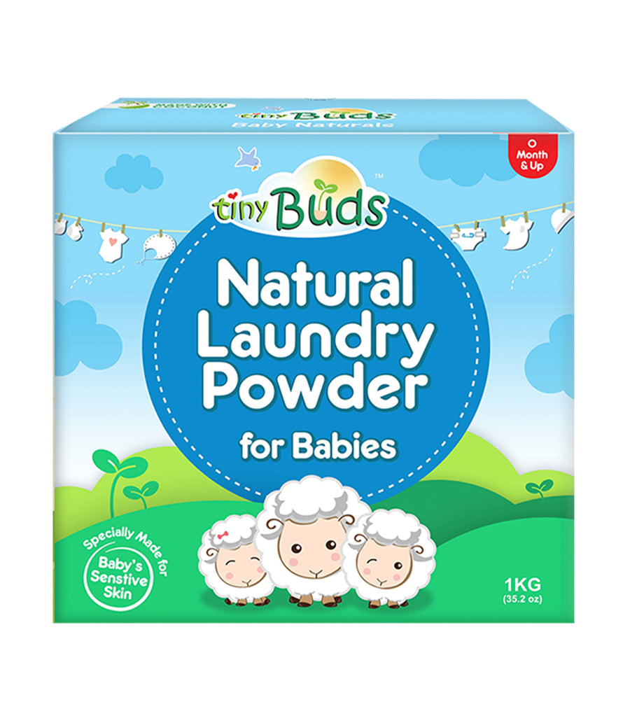 tiny buds natural laundry powder for babies 1 kg