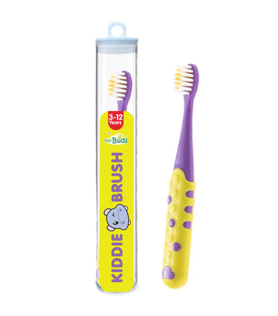 tiny buds yellow and purple kiddie toothbrush (3-12 years)