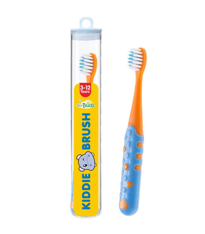tiny buds orange and navy kiddie toothbrush (3-12 years)