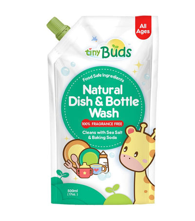 tiny buds natural dish and bottle wash refill (fragrance-free) 500 ml