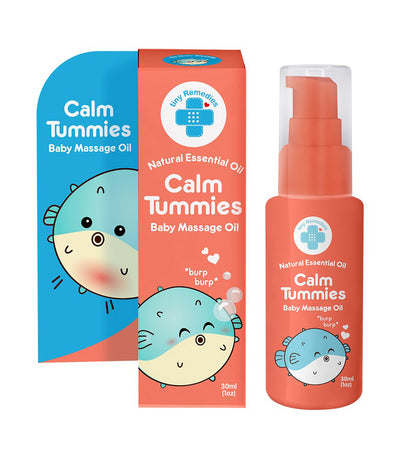 tiny buds calm tummies baby massage oil 30ml