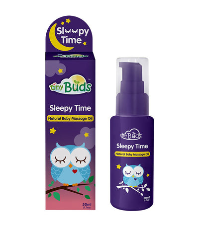 tiny buds sleepy time natural baby massage oil