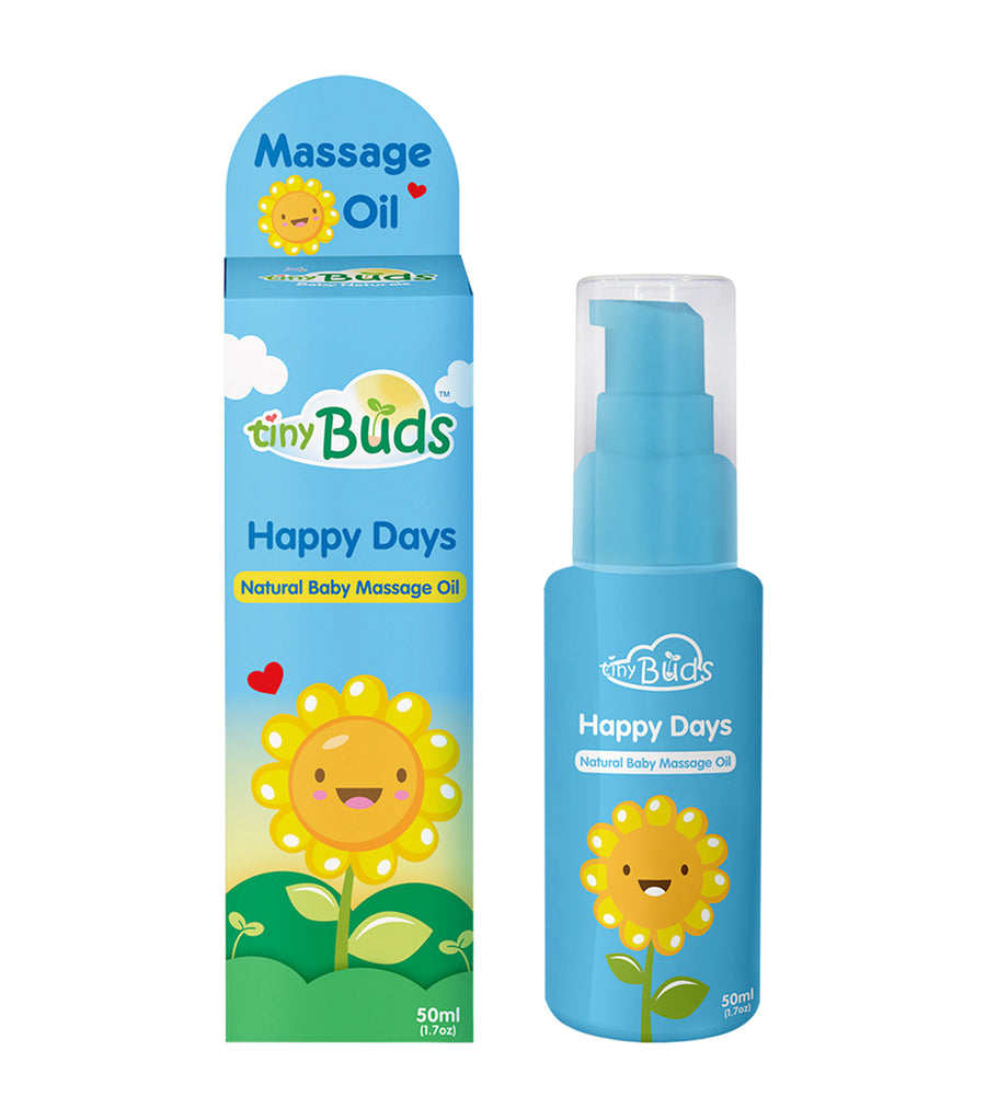 tiny buds happy days natural baby sunflower oil 50ml
